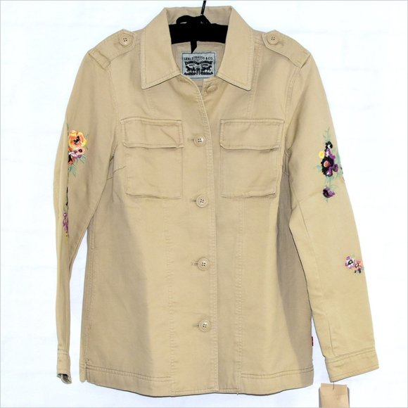 Levi's Jackets & Blazers - NWT LEVI'S Utility Jacket Shirt Style Embroidered!